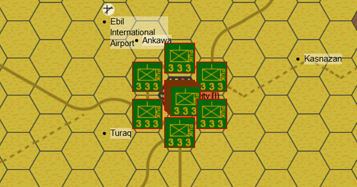 Battle of Erbil - Iraq, Middle East, 1996