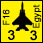 Libyan National Army - Egyptian F16 - Air (3-3-40)